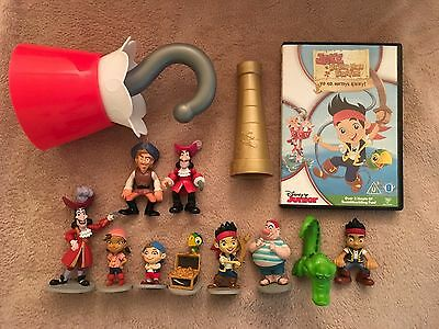 Jake And The Neverland Pirates Disney Figures, Dvd, Hook And Spyglass Bundle
