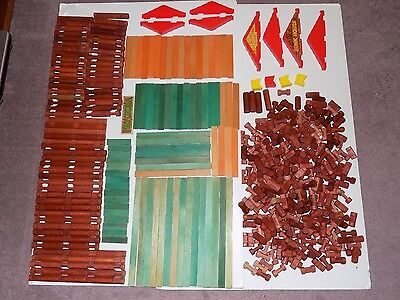Vintage and current Lincoln logs lot  550+  wooden building construction blocks