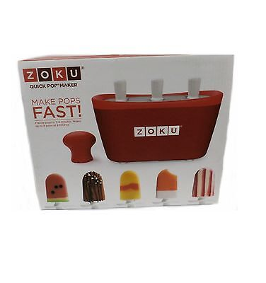 Zoku Triple Quick Pop Maker Freeze Pops In 9 Minutes Makes 9 Pops