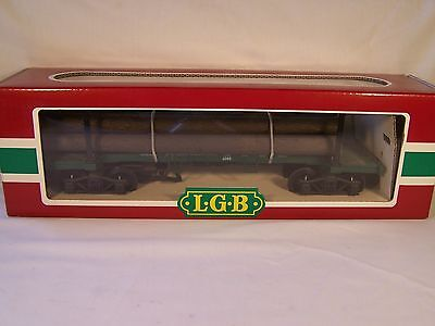 LGB Skeleton Log Car w/Log Load, 4066, C8, LNIB