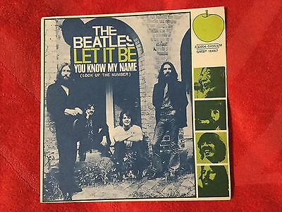 BEATLES: LET IT BE/YOU KNOW MY NAME  Italy 1970 con Errore +inserto