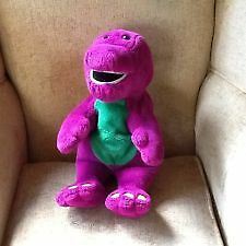 Barney Large Actimates Interactive Talking Microsoft Plush Toy Sings Plays Fun