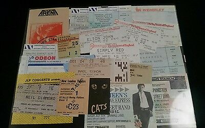 Collection of framed concert/theatre tickets