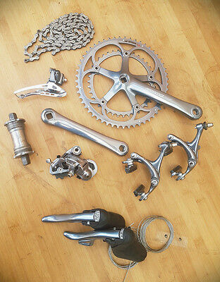 Campagnolo Centaur Century Grey 10 spd Groupset including hubs & Mavic Open Pro