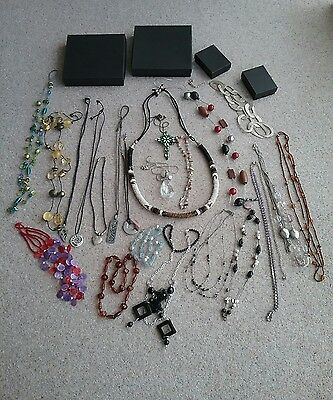 Large Collection Of Costume Jewellery (Necklaces) + 4 Jewellery Boxes