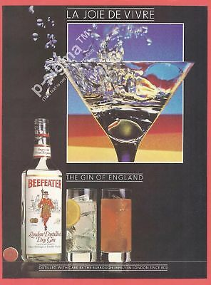 BEEFEATER London Dry Gin 1983 Vintage Print Ad