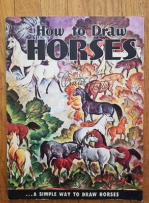 How to Draw Horses by Walter T. Foster, art book