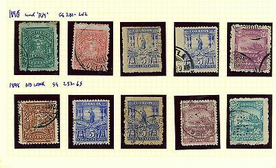 Mexico 1896 1898 #sg 231-42 & 262, Used Selection: Ra Carter Collection
