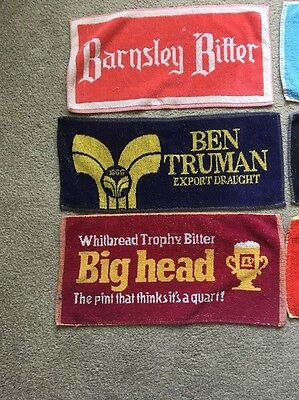 Selection Of Beer Bar Towels From The 1970's