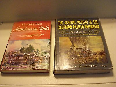 1963 THE CENTRAL & SOUTHERN PACIFIC RAILROADS Lucius Beebe MANSIONS ON THE RAILS