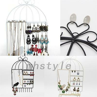 Practical  Birdcage Stand Rack Earring Necklace Bracelet Holder Jewelry Display