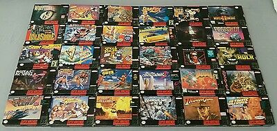 Nintendo SNES Game Boxes #1 (Lot Of 30) Super NES *NO Games* Nice Collection!