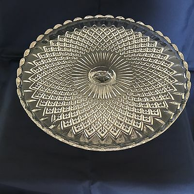 A Stunning Vintage Glass Cake Stand