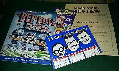 Pep Boys - History Book - Chain Store Review & Holiday Card