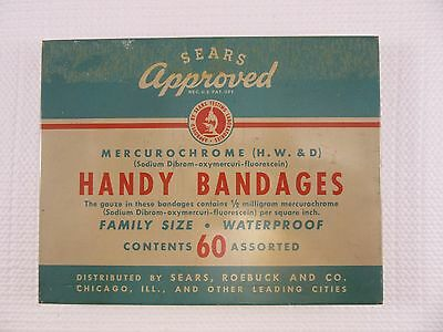 Vintage SEARS HANDY BANDAGES tin