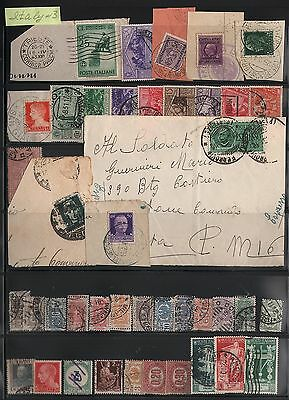 Italy Lot Of Stamps And Postcard #3