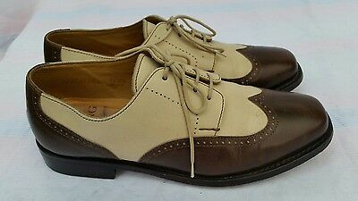 Huschung  Womens shoes Brown & Cream Brogues Leather size: eu 38.5 uk 5.5 us 8