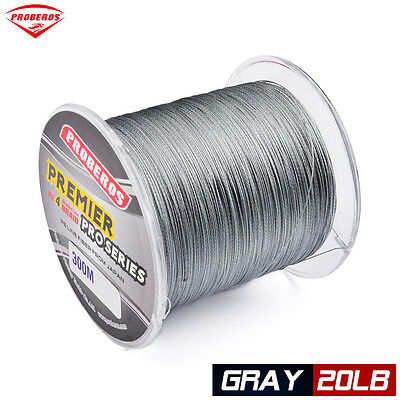 1pc 300M braided line Gray Color Fishing Line 20LB PE Line Wire Strand Sink Line