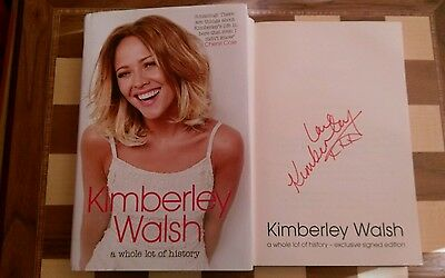 A Whole Lot of History EXCLUSIVE SIGNED Kimberley Walsh Autobiography 1st/1st