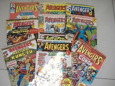 The Avengers. Comic Job Lot. Very Good Condition. 10 Issues.