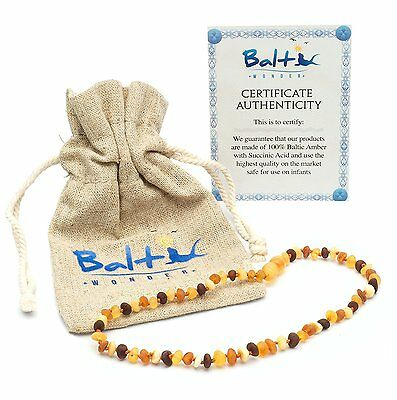 Baltic Wonder Amber Necklace For Babies/Toddlers - Raw Unpolished
