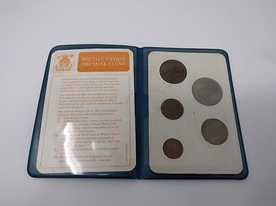 Britain's First Decimal Coins Set of 5 Vintage 60's/70's