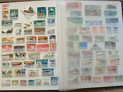 Stamp Album - Collection Mixed 11 pages of stamps