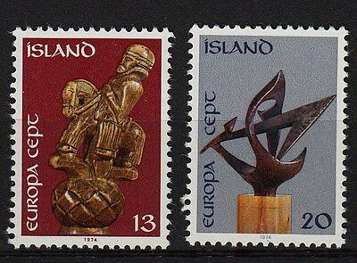 67F**Lot x2 STAMPS/ Timbres ISLAND / ISLANDE (EUROPA CEPT 1974) Neuf**MNH TBE