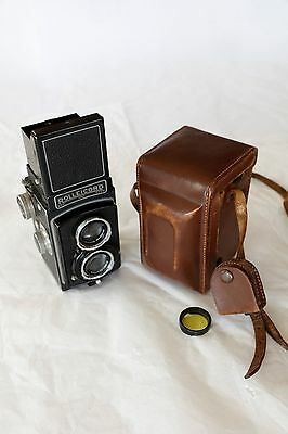 Rolleicord II TLR Camera with Leather Case