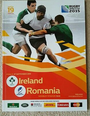 Rugby World Cup Programme 2015 Ireland v Romania