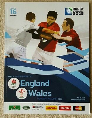 Rugby World Cup Programme 2015 England v Wales