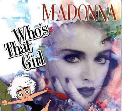 "Madonna - Who's That Girl Clear Vinyl Anniversary Limited Edition LP 12"" +Poster"