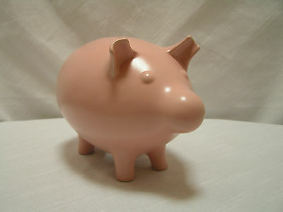 """Jonathan Adler Pink Piggy Bank from Barney's of New York NM 8.5""""L x 5.5""""T x 5""""W"""