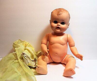 "Vintage 1950's Dee-Cee? Doll 19"" Drink Wet Molded Hair Jointed knees & elbows!"