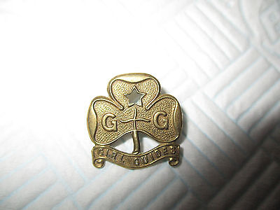 Vintage Girl Guides Brass Pin Badge