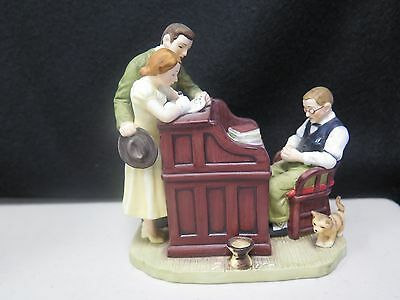 "Gorham Fine China Norman Rockwell Inspired ""the Marriage License"" Figurine"