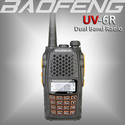 2017 BAOFENG UV-6R Ham Radio Dual Band UHF/VHF 136-174/400-520Mhz Walkie Talkie