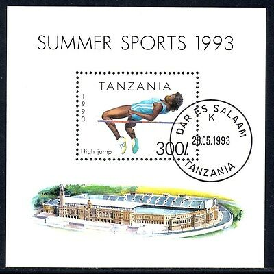 (Ref-10882) Tanzania 1993 Summer Sports  SG.MS1513  Used (CTO)