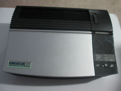 Silver Oreck XL Professional Tabletop Air Purifier Home Air Cleaning Appliance
