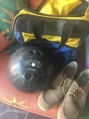 Bowling Ball, Bag And Shoes