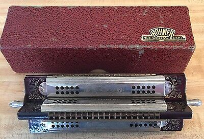 M. Hohner Harmonica Four Sided Showmans Piece With Original Box Made In 1893