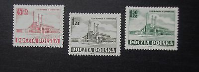 POLAND - 1952 Set of 3 JAWORZNO Power Station - MNH