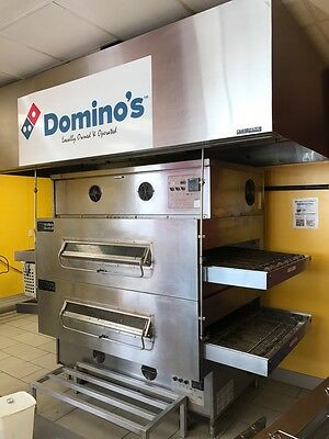 Middleby Marshall Ps 360Wb's Double Stack Natural Gas Conveyor Pizza Ovens