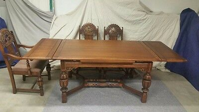 1920's Jacobean style Dining Room Set