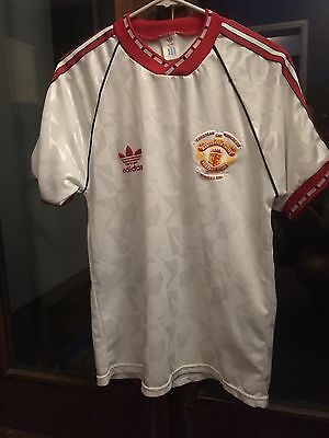 manchester united 1991 shirt European Cup Winners Cup Size medium