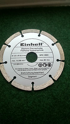 Einhell Diamond Cutting Disc 125 mm 1 pcs segment for stone granite tiles