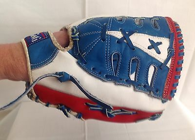 Tom Seaver Spalding Red, White & Blue Vintage Baseball Glove - Super Condition!