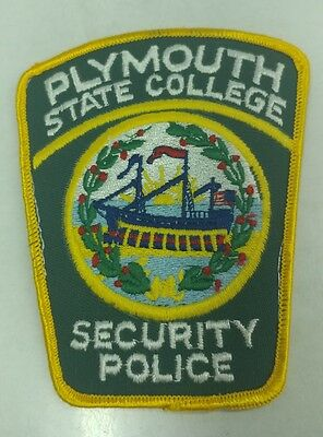 Security Police Patch PLYMOUTH STATE UNIVERSITY NEW HAMPSHIRE Rare