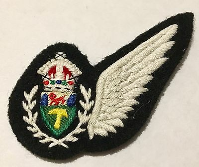 Early Official Royal Rhodesia Air Force Air Crew Wing 1950's - 1970 Badge Patch