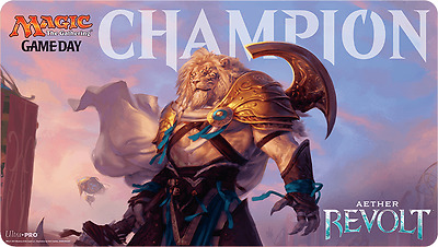 New MTG Magic The Gathering Aether Revolt Gameday Champion Playmat Ajani